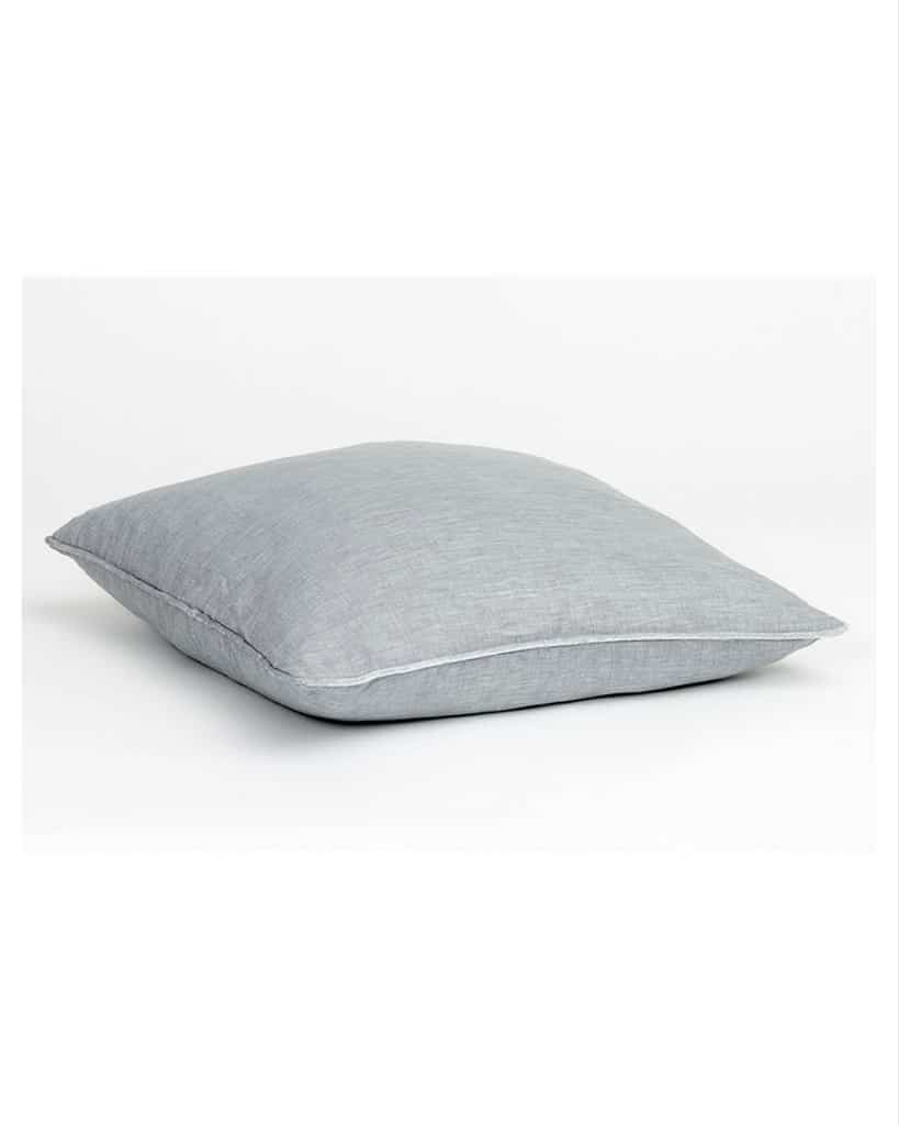 Light grey linen pillow from Fabric Copenhagen