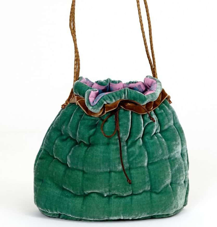 Silk velvet handbag