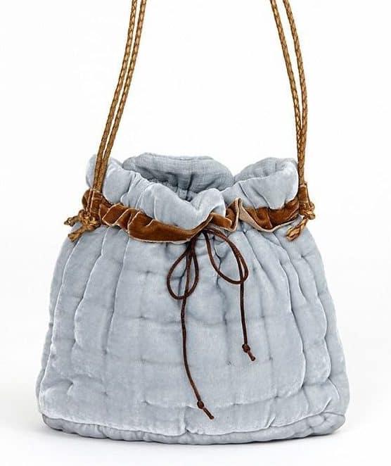 Handbag made of silk velvet