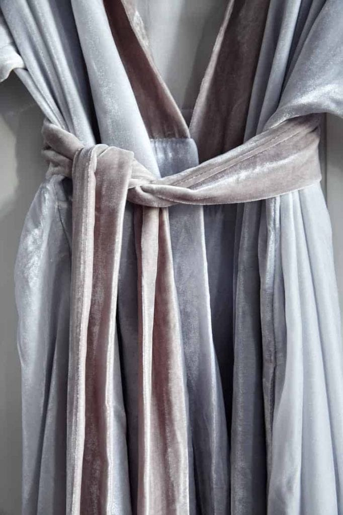 Silk velvet kimono from Fabric Copenhagen