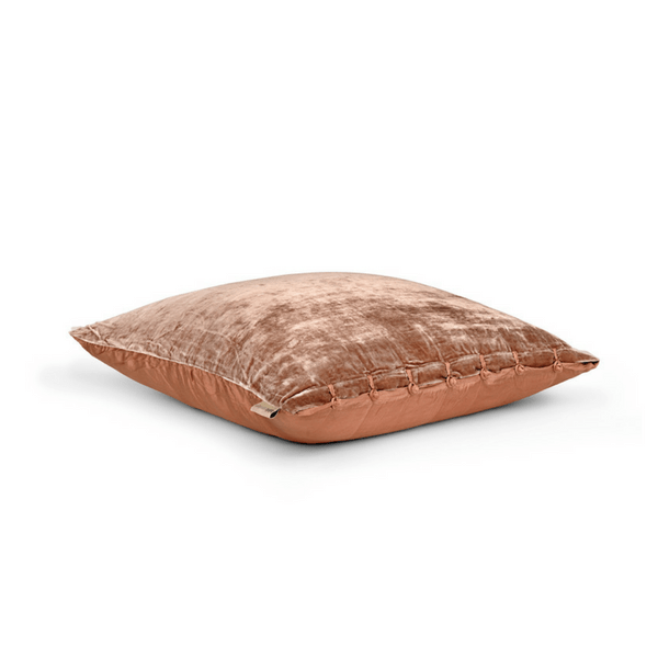 Rose silk velvet pillow from Fabric Copenhagen